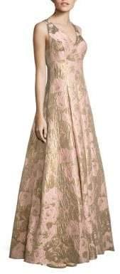 Aidan MattoxAidan Mattox Metallic Jacquard Ball Gown