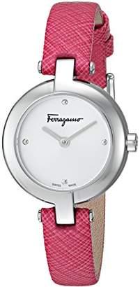 Salvatore Ferragamo Women's 'Ferragamo Miniature' Swiss Quartz Stainless Steel and Leather Casual Watch