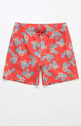 "Brixton Red Palmas 18"" Swim Trunks"