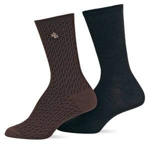 Ralph Lauren 2-Pack Supersoft Cable Trouser Socks