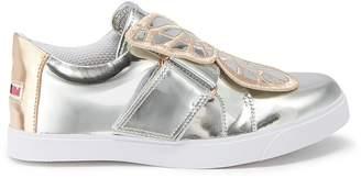 Sophia Webster 'Bibi Low Top Mini' butterfly mirror leather toddler sneakers