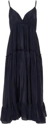 Loup Charmant Carino Tiered Silk Dress