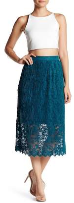 Romeo & Juliet Couture Midi Lace Skirt