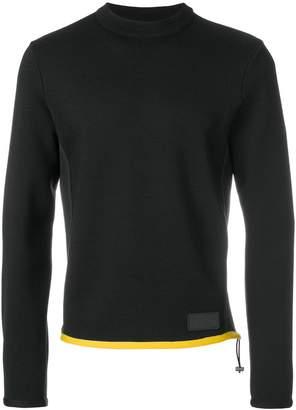 Prada drawstring-detail knitted jumper