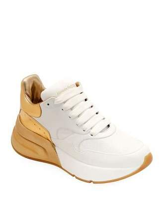 Alexander McQueen Metallic Platform Sneakers