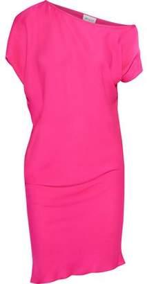 Milly Julena One-Shoulder Neon Stretch-Silk Dress