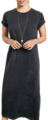 Hush Jamie Cotton T-Shirt Dress, Washed Black