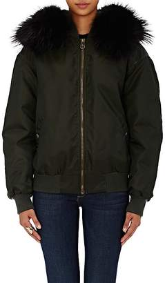 Mr & Mrs Italy Women's Fur-Lined Tech-Twill Bomber Jacket