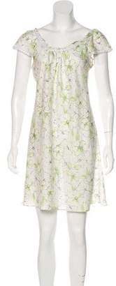 Oscar de la Renta Printed Mini Nightgown