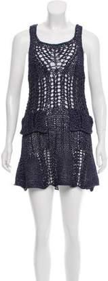Anna Sui Metallic Mini Dress