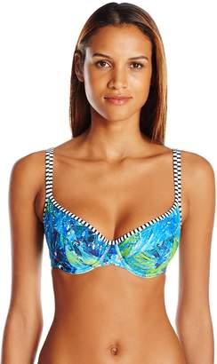 cf59a5b464 Panache Swim Women's Elle Bra-Sized Molded Cup Balconnet Swimsuit Bikini Top
