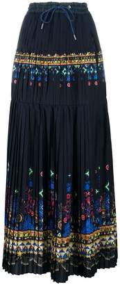 Sacai Tribal Lace printed maxi skirt