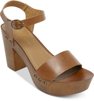 Madden-Girl Lift Wooden Platform Sandals