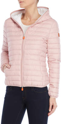 Save The Duck Quilted Packable Hooded Ultra Light Jacket