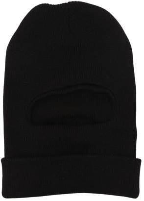 Knit Ski Mask With Logo Patch