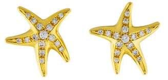 Tiffany & Co. 18K Diamond Starfish Stud Earrings