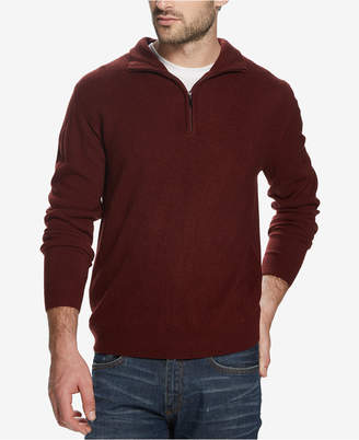 Weatherproof Vintage Men Soft Touch Textured 1/4-Zip Sweater