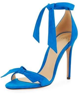 Alexandre Birman Clarita Suede Knotted Sandal
