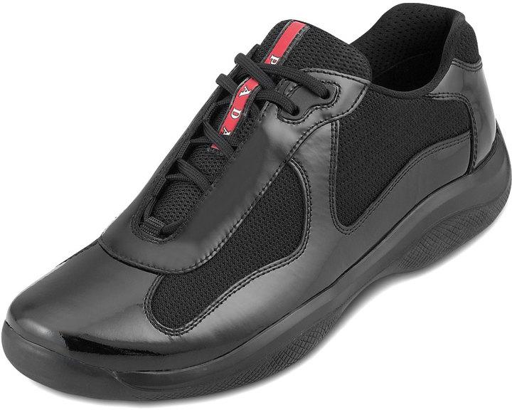Prada Black Patent Sneaker