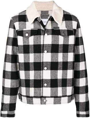 Calvin Klein Jeans shearling-lined checked jacket