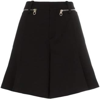 Chloé zip detail wool shorts