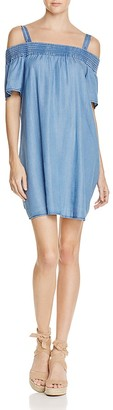 PPLA Viviana Chambray Off-the-Shoulder Dress $88 thestylecure.com