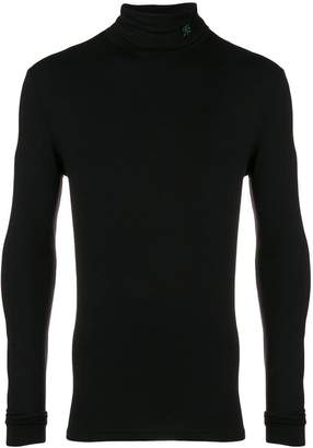 Raf Simons turtle-neck fitted top