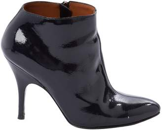 Lanvin Navy Patent leather Ankle boots
