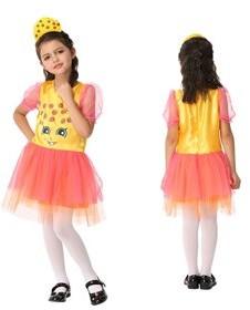 ZUK Costumes Girl's Cookie Sweet Bakery Goods Character Dress Ups Costume 2 Piece Set