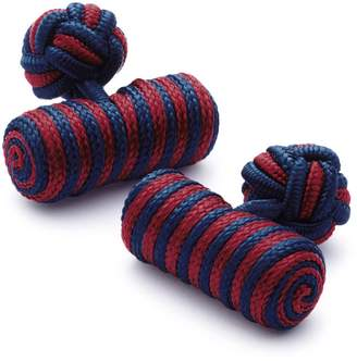 Charles Tyrwhitt Red and Navy Barrel Knot Cufflinks