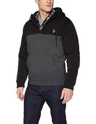 U.S. Polo Assn. Men's Color Block Pull Over Hoodie