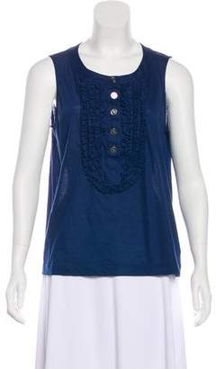 Chanel Ruffle-Trimmed Sleeveless Top