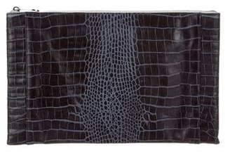 Reece Hudson Embossed Leather Clutch