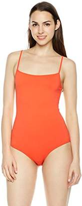 Plumberry Women's Cami Strap Snap Crotch Thong Leotard Bodysuit