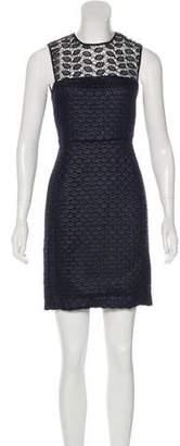 Diane von Furstenberg Embroidered Mini Dress