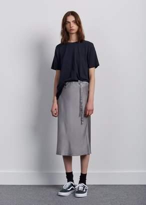 6397 Silk Drawstring Skirt Grey