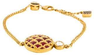 Amrapali 18K Enamel & Diamond Station Bracelet