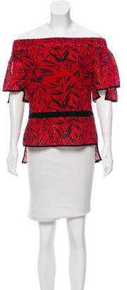 Prabal Gurung Printed Short Sleeve Top w/ Tags