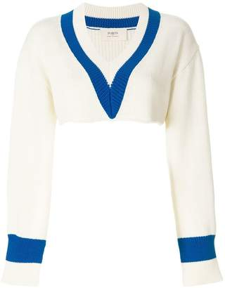 Ports 1961 slit-detailed cropped jumper