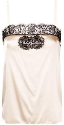 Dolce & Gabbana lace logo camisole