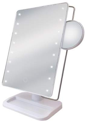 Ginsey LED Freestanding Makeup Mirror with Tray and Sensor