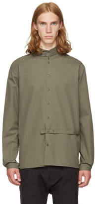 Phoebe English Green High Collar Shirt