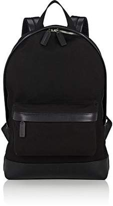 Tomasini Men's Classic Canvas & Leather Backpack - Black