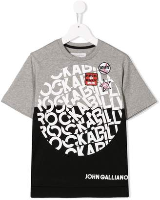 John Galliano colour-block T-shirt