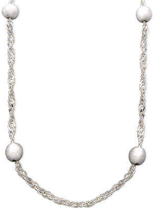 "Giani Bernini Sterling Silver Necklace, 20"" Bead Singapore Chain"