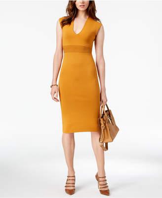 Michael Kors V-Neck Cap-Sleeve Dress