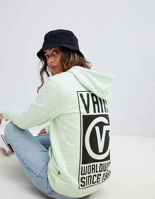 Vans Worldwide Back Print Hoodie In Mint