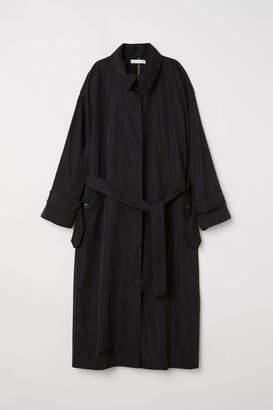 H&M Long Trenchcoat - Black - Women