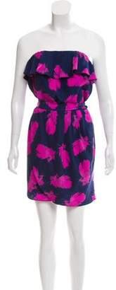 Amanda Uprichard Silk Printed Mini Dress