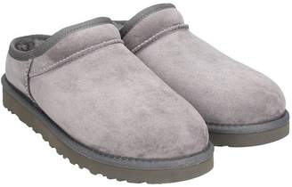 UGG Classic Slipper Grey Suede Loafers